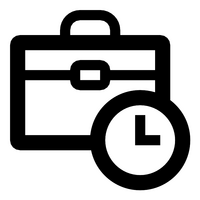 Working time vector icon